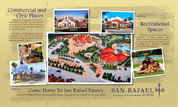 San Rafael Estates. Back Brochure