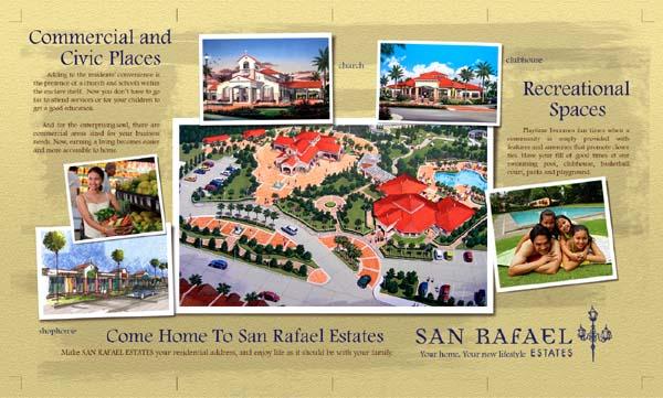 San Rafael Estates. Back Brochure
