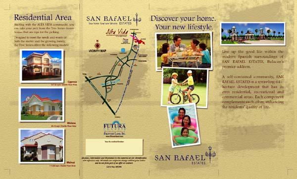 San Rafael Estates (a real estate project) front  brochure